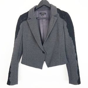 Ann Taylor blazer with lace overlay sleeves